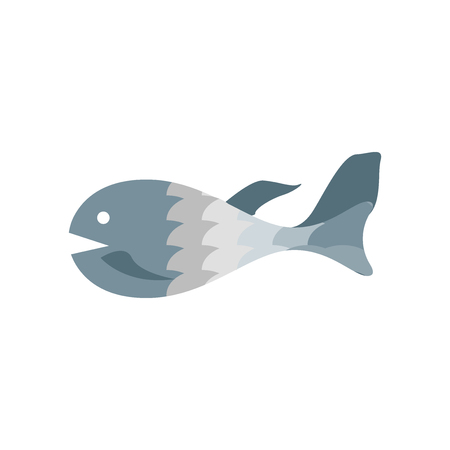 Fish icon vector isolated on white background for your web and mobile app design Stock Vector - 107146549