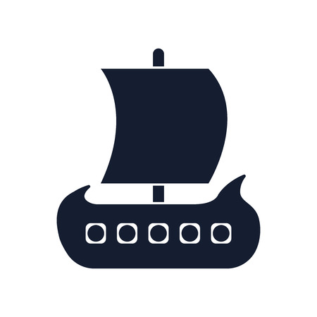 Viking ship icon vector isolated on white background for your web and mobile app design Stock Illustratie