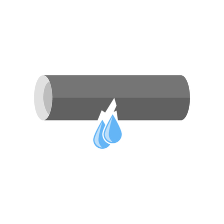 Leak icon vector isolated on white background for your web and mobile app design Stock Illustratie