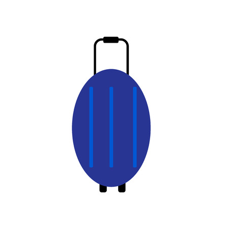 Luggage icon vector isolated on white background for your web and mobile app design Illustration