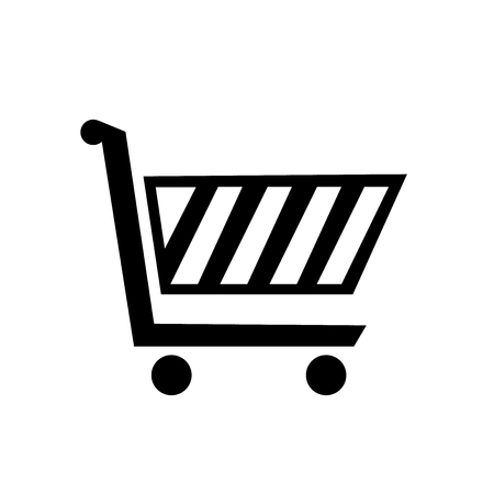 Shopping cart icon vector isolated on white background for your web and mobile app design Archivio Fotografico - 107139706