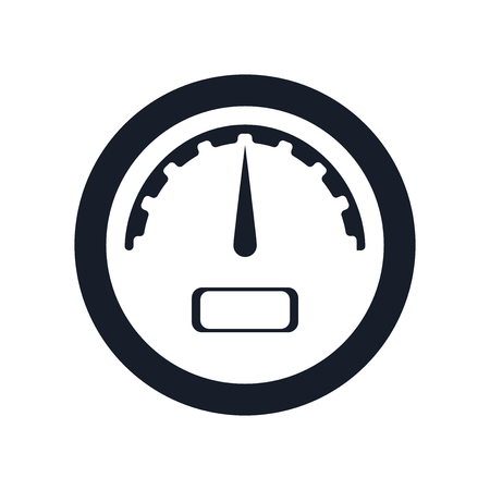 Gauge icon vector isolated on white background for your web and mobile app design Illustration