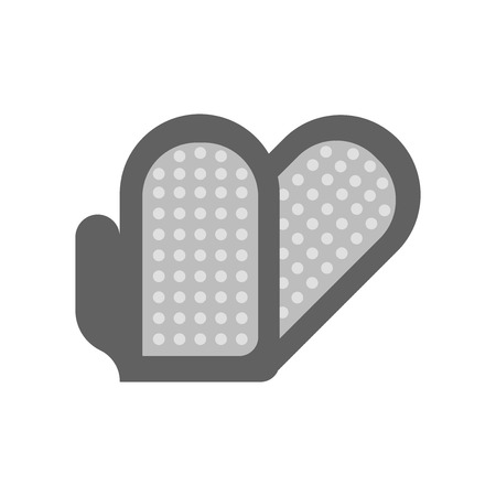 Grooming glove icon vector isolated on white background for your web and mobile app design