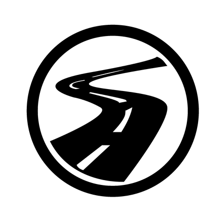 Roads icon vector isolated on white background for your web and mobile app design, Roads icon concept
