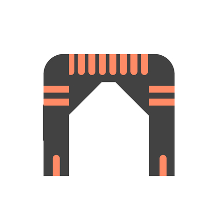 Arch icon vector isolated on white background for your web and mobile app design