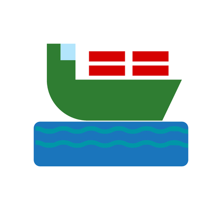 Ship icon vector isolated on white background for your web and mobile app design