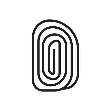 Fingerprint icon vector isolated on white background for your web and mobile app design 矢量图像