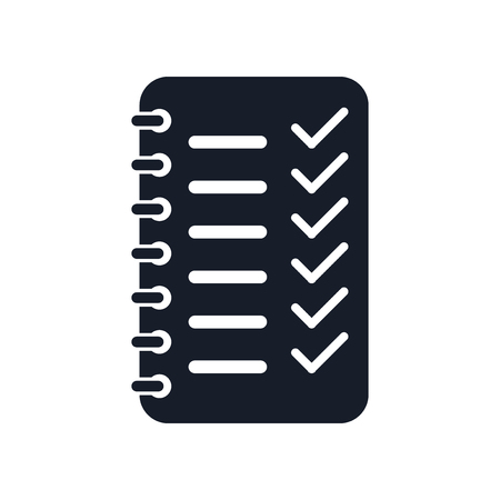 Planning icon vector isolated on white background for your web and mobile app design Ilustração