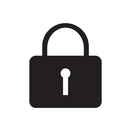 Locked icon vector isolated on white background for your web and mobile app design