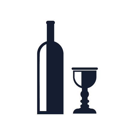 Wine icon vector isolated on white background for your web and mobile app design, Wine icon concept