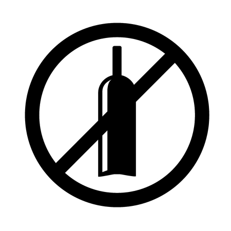 No alcohol icon vector isolated on white background for your web and mobile app design, No alcohol icon concept