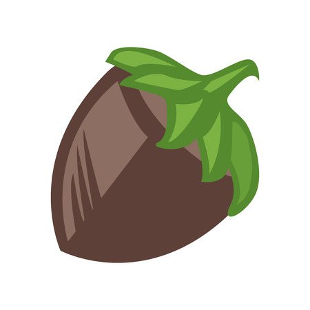 Hazelnut icon vector isolated on white background for your web and mobile app design, Hazelnut icon concept Illustration
