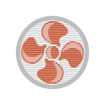Fan icon vector isolated on white background for your web and mobile app design