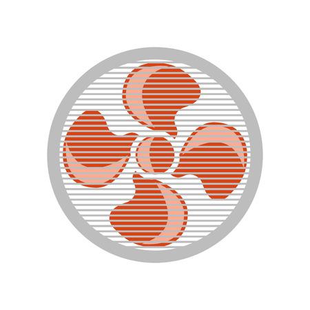 Vecteur d'icône de ventilateur isolé sur fond blanc pour la conception de votre application web et mobile