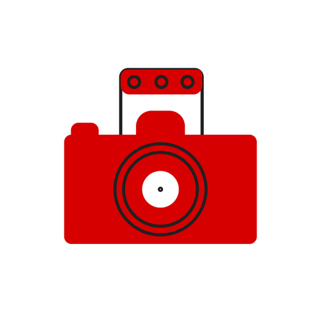 Photography icon vector isolated on white background for your web and mobile app design, Photography icon concept