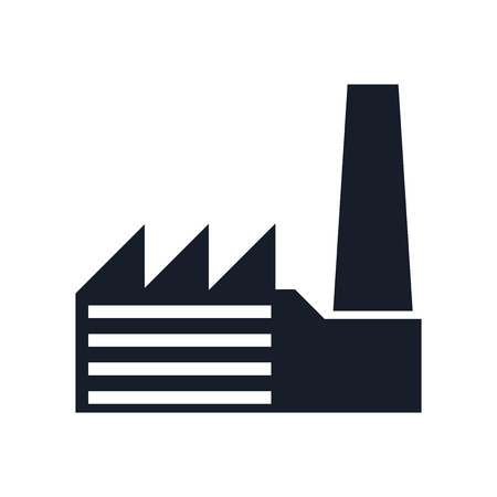 Factory icon vector isolated on white background for your web and mobile app design, Factory icon concept