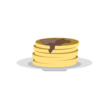 Pancakes icon vector isolated on white background for your web and mobile app design