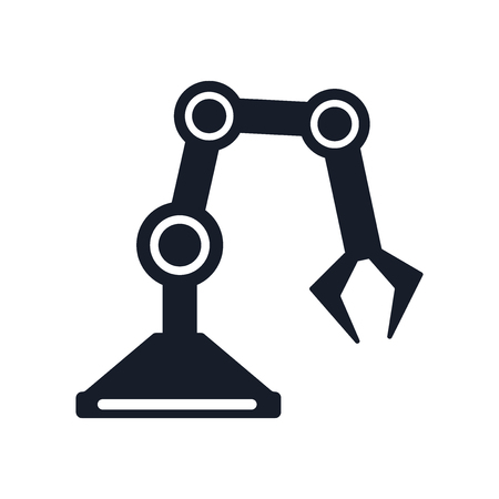Industrial robot icon vector isolated on white background for your web and mobile app design