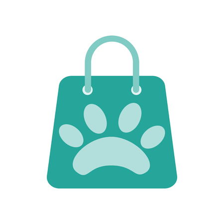 Shopping bag icon vector isolated on white background for your web and mobile app design Vectores