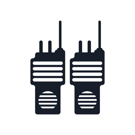 Walkie talkie icon vector isolated on white background for your web and mobile app design