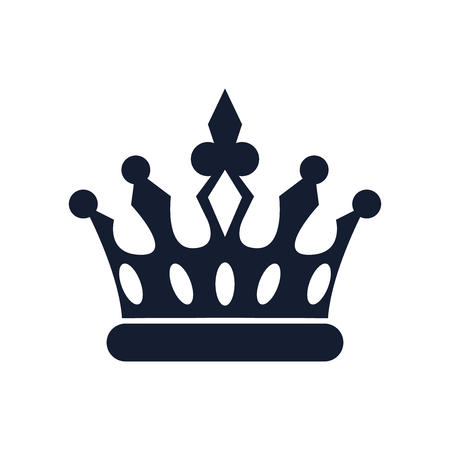 Crown icon vector isolated on white background for your web and mobile app design, Crown icon concept Иллюстрация