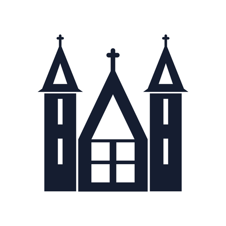 Church icon vector isolated on white background for your web and mobile app design, Church icon concept Illustration