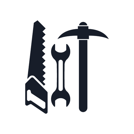 Tools icon vector isolated on white background for your web and mobile app design, Tools icon concept Illustration