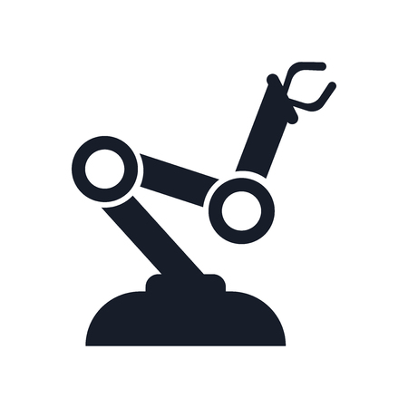 Robot arm icon vector isolated on white background for your web and mobile app design