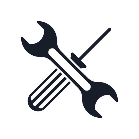 Tools icon vector isolated on white background for your web and mobile app design Stock Vector - 107146774