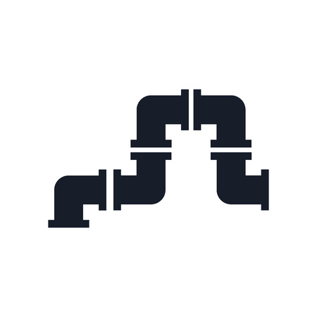 Pipe icon vector isolated on white background for your web and mobile app design