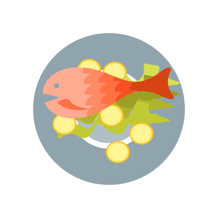 Fish food icon vector isolated on white background for your web and mobile app design