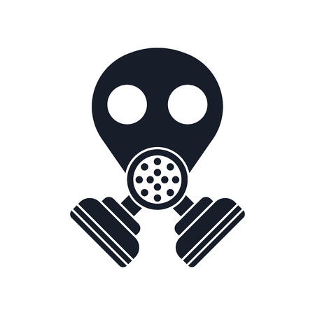 Gas mask icon vector isolated on white background for your web and mobile app design