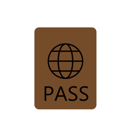 Passport icon vector isolated on white background for your web and mobile app design