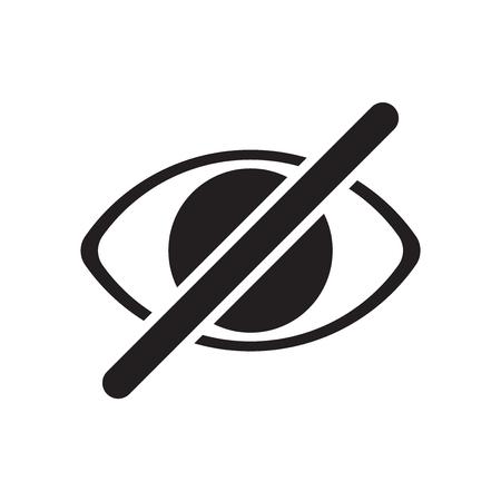 Symbolvektor ausblenden isoliert auf weißem Hintergrund für Ihr Web- und Mobile-App-Design, Symbolkonzept ausblenden