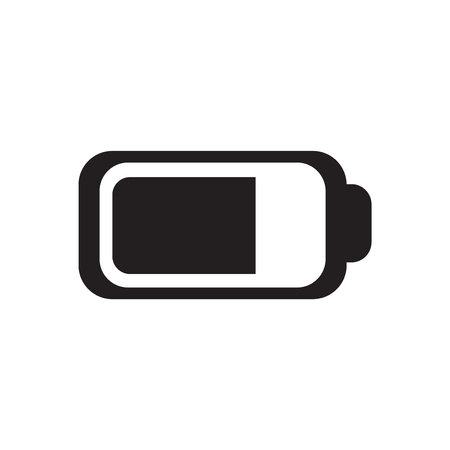 Battery icon vector isolated on white background for your web and mobile app design, Battery icon concept Иллюстрация