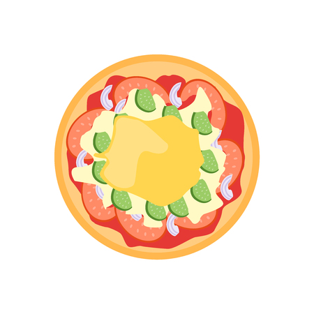 Pizza icon vector isolated on white background for your web and mobile app design, Pizza icon concept Ilustração