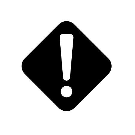 Warning icon vector isolated on white background for your web and mobile app design