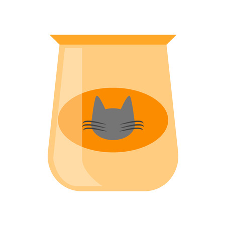 Cat food icon vector isolated on white background for your web and mobile app design Иллюстрация