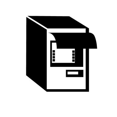 Atm icon vector isolated on white background for your web and mobile app design, Atm icon concept Stock Vector - 107342352