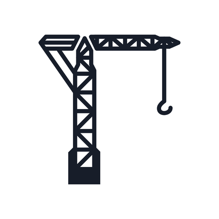 Crane icon vector isolated on white background for your web and mobile app design, Crane icon concept Ilustração