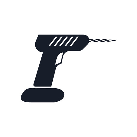 Drill icon vector isolated on white background for your web and mobile app design.