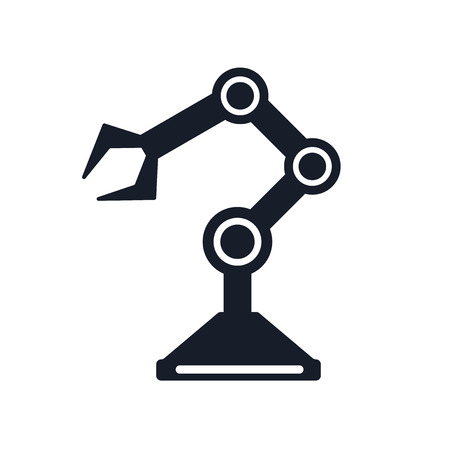 Robot arm icon vector isolated on white background for your web and mobile app design.