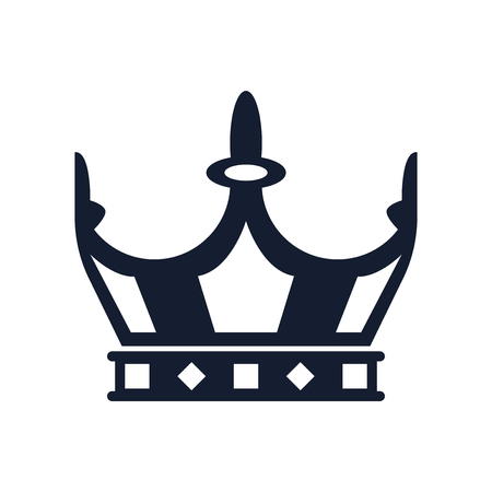 Crown icon vector isolated on white background for your web and mobile app design.