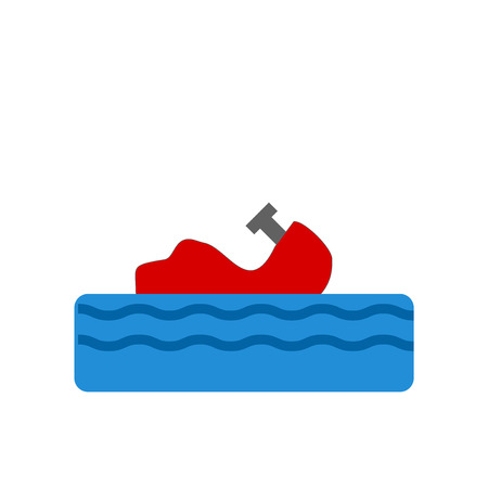 Water craft icon vector isolated on white background for your web and mobile app design.