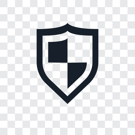 Shield vector icon isolated on transparent background, Shield icon concept