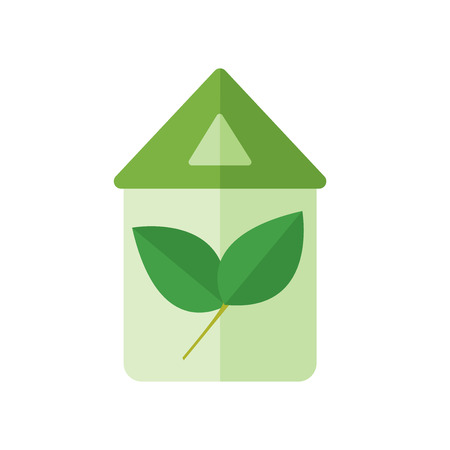 Eco home icon vector isolated on white background for your web and mobile app design, Eco home icon concept Illustration