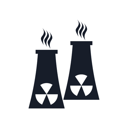 Nuclear plant icon isolated on white background for your web and mobile app design. Illustration