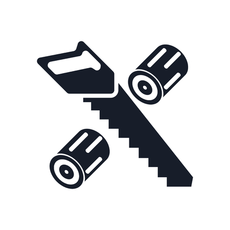 Wood cutting icon vector isolated on white background for your web and mobile app design