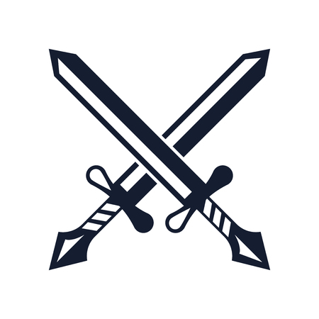Swords icon vector isolated on white background for your web and mobile app design, Swords icon concept Stock Vector - 107343369
