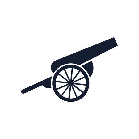 Kanonensymbolvektor lokalisiert auf weißem Hintergrund für Ihr Web- und mobiles App-Design